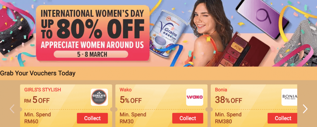 LAZADA Women Day Offers (Give Perfect Gift with 80% Off)